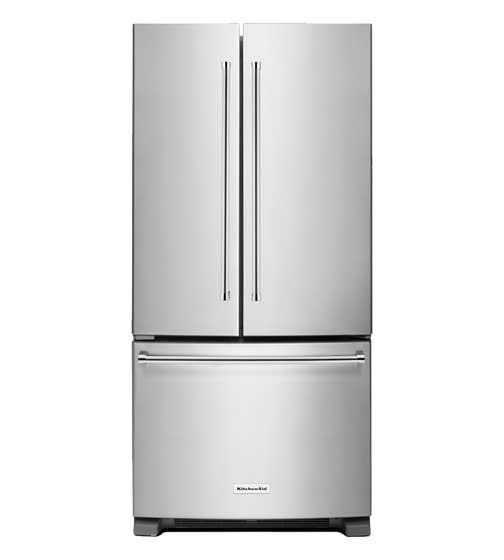 KitchenAid Refrigerator 33 KRFF302E showcased by Corbeil Electro Store