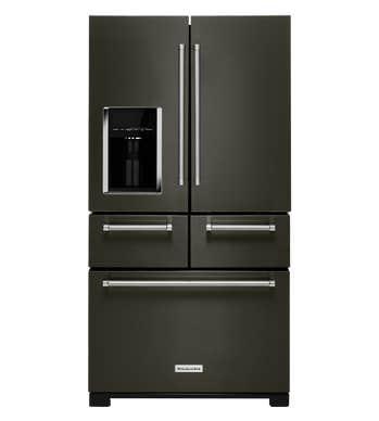 KitchenAid Refrigerateur 36 KRMF706E en couleur Acier Inoxydable Noir présenté par Corbeil Electro Store