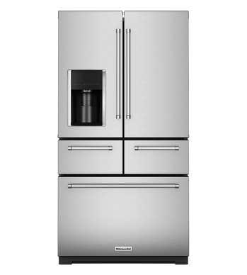 KitchenAid Refrigerateur 36 KRMF706E en couleur Acier Inoxydable présenté par Corbeil Electro Store