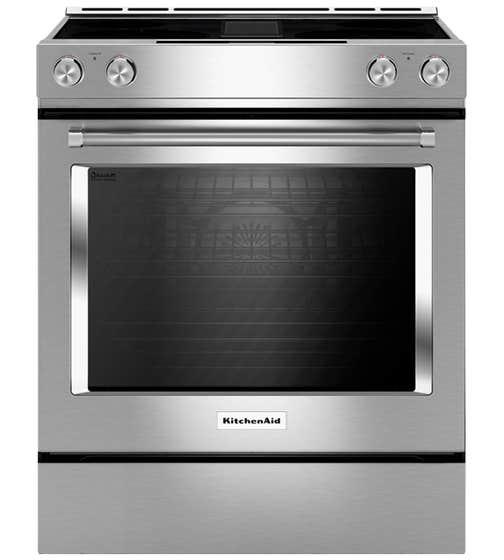 KitchenAid Range 30 StainlessSteel KSEG950ESS in Stainless Steel color showcased by Corbeil Electro Store