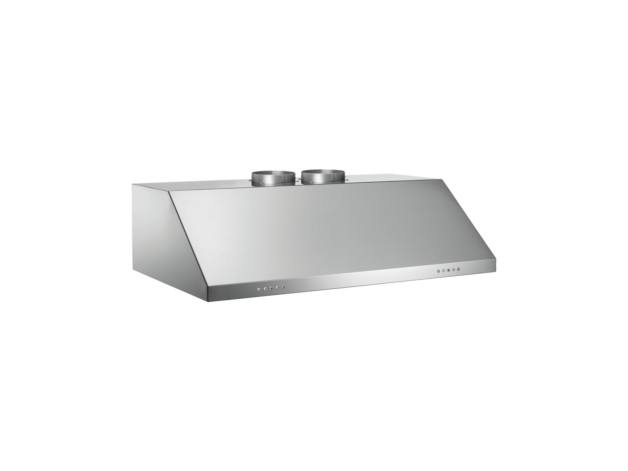 Bertazzoni Rangehood 36inch in Stainless Steel color showcased by Corbeil Electro Store