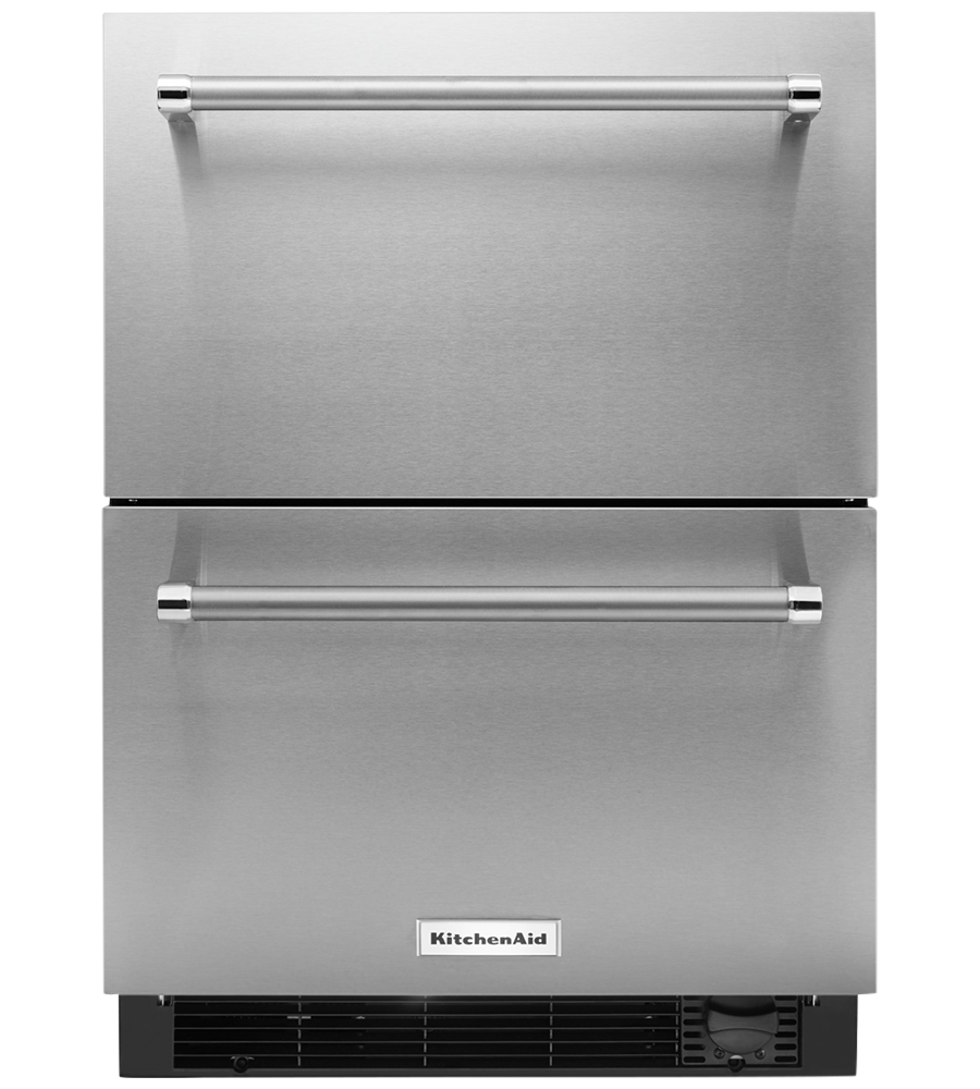 Kitchen Aid refrigerator showcased by Corbeil Electro Store