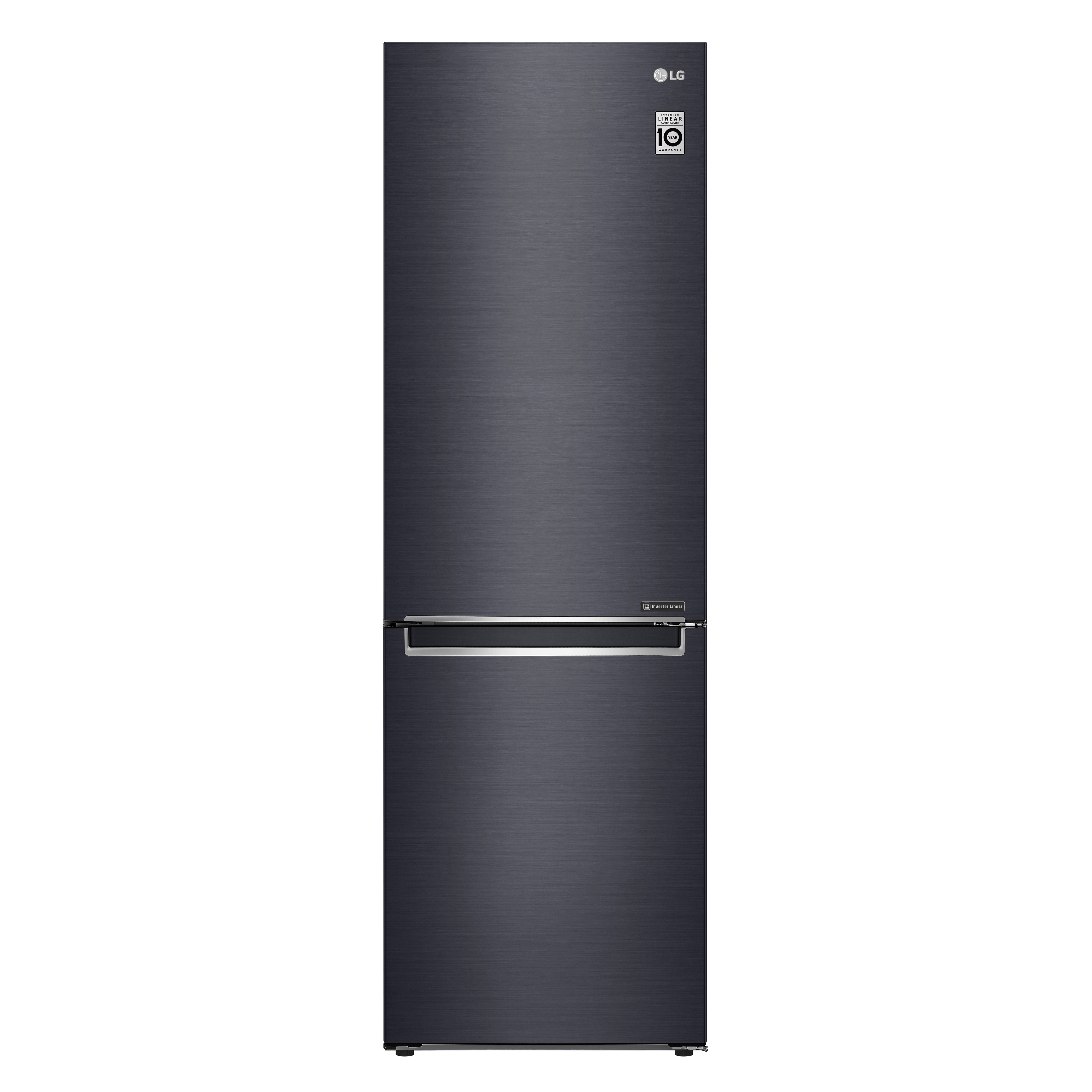 LG Refrigerator in Black color showcased by Corbeil Electro Store