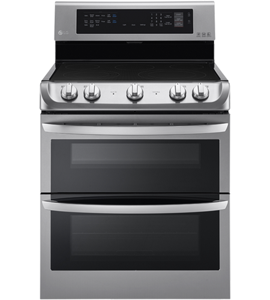 LG Range in Stainless Steel color showcased by Corbeil Electro Store