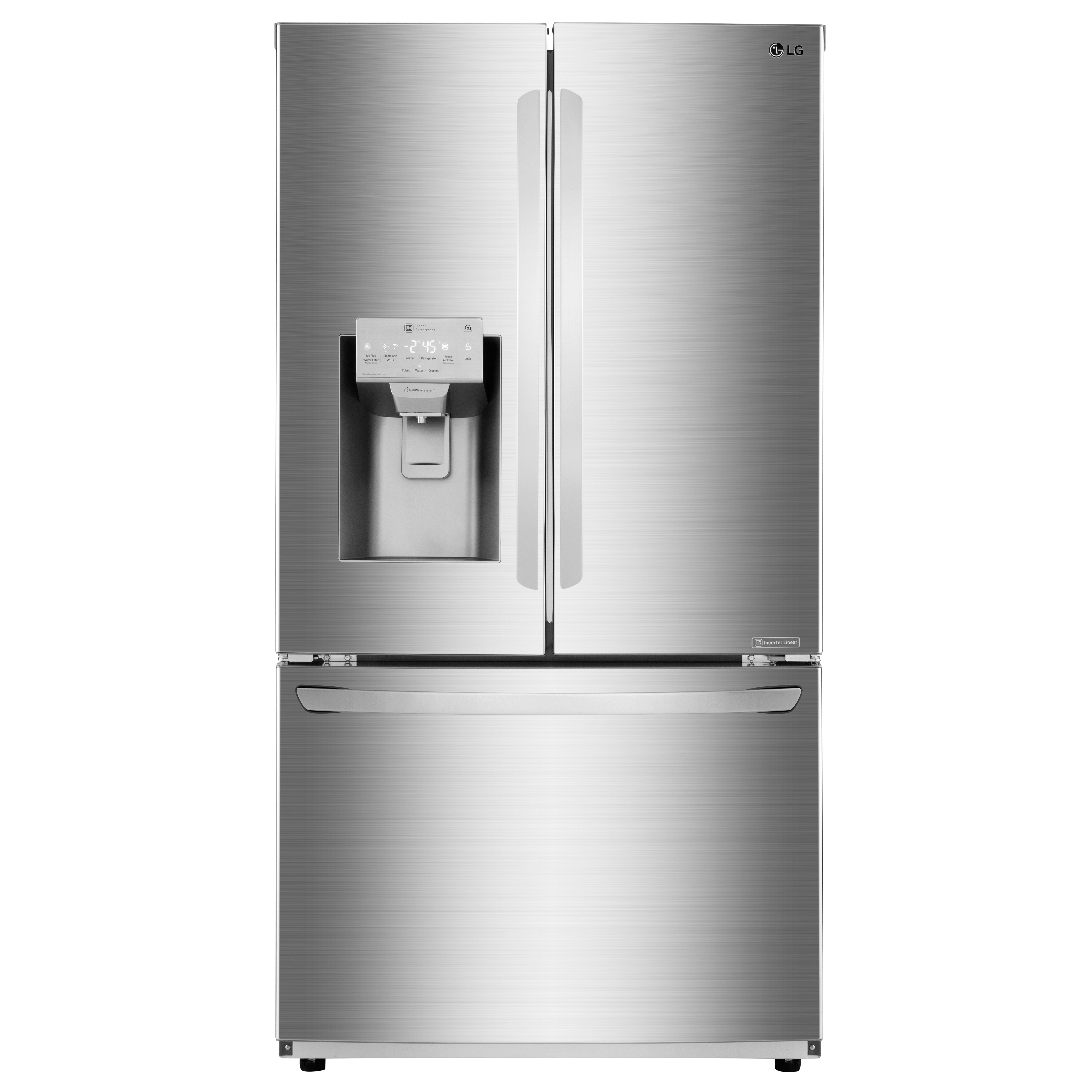 LG Refrigerator 36 StainlessSteel LFXC22526S in Stainless Steel color showcased by Corbeil Electro Store