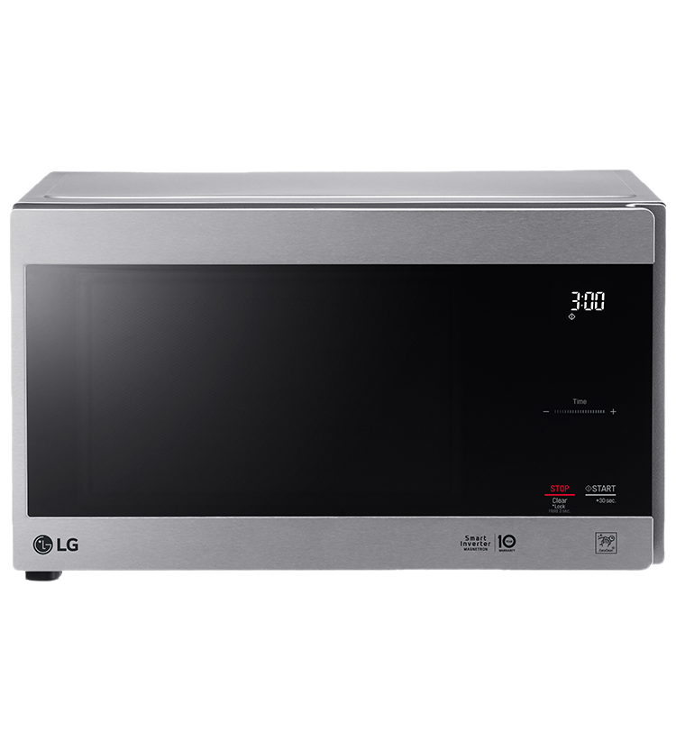 LG Microwave in Stainless Steel color showcased by Corbeil Electro Store