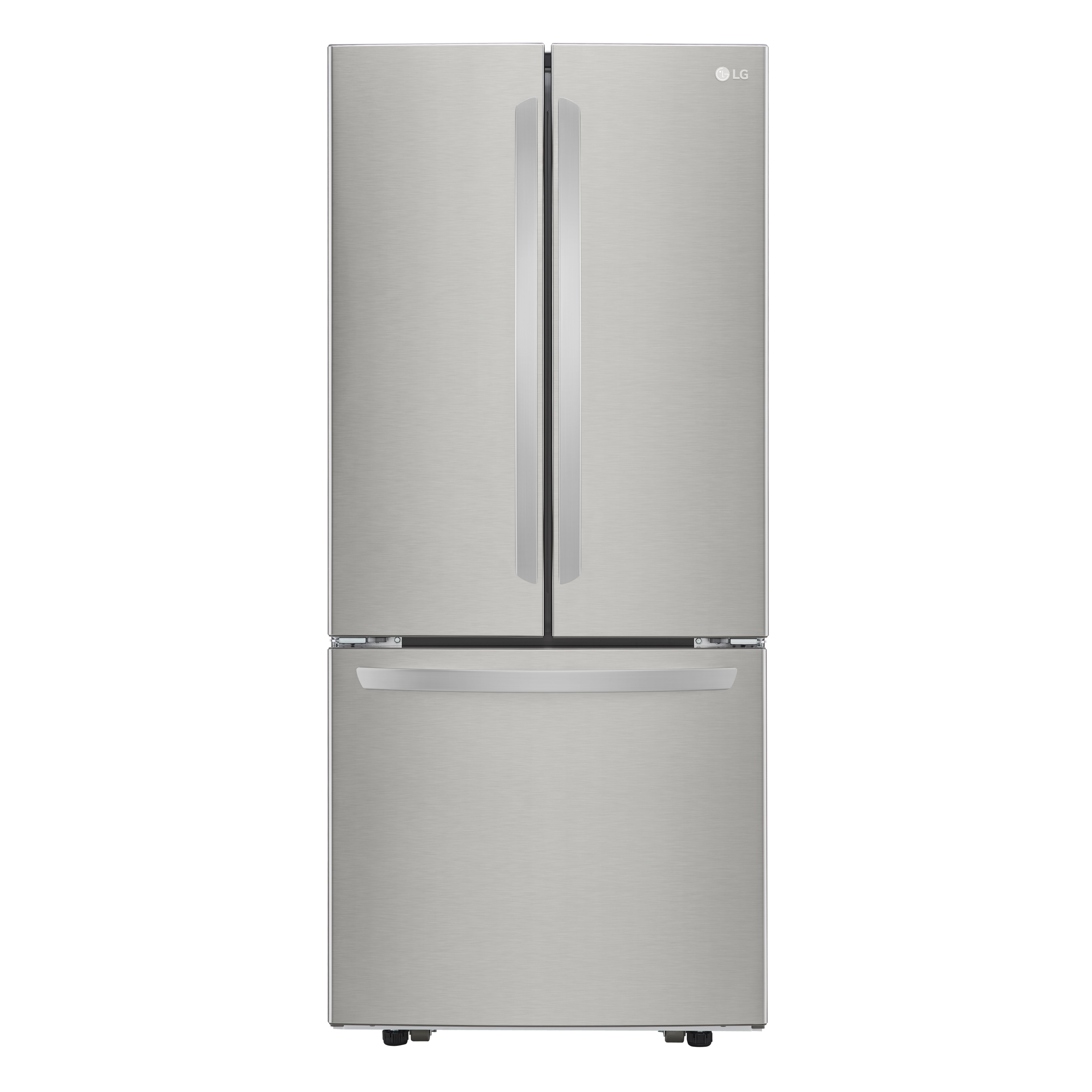 LG Fridge LRFNS2200S in Stainless Steel color showcased by Corbeil Electro Store