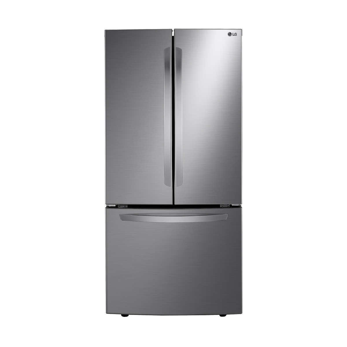 LG Fridge LRFNS2503V in Stainless Steel color showcased by Corbeil Electro Store