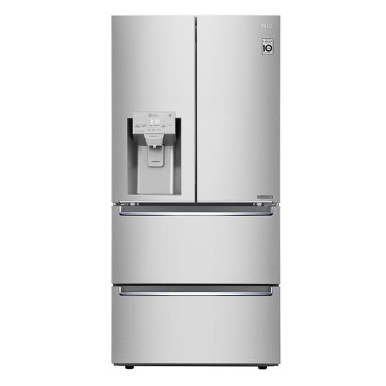 Réfrigérateur LG en couleur Acier Inoxydable présenté par Corbeil Electro Store