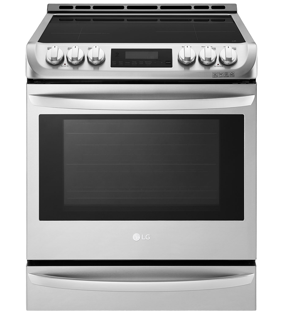 LG Range 30 StainlessSteel LSE4617ST in Stainless Steel color showcased by Corbeil Electro Store
