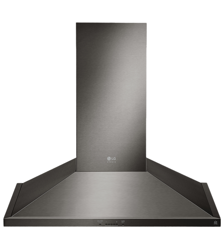 LG Ventilation in Black Stainless Steel color showcased by Corbeil Electro Store