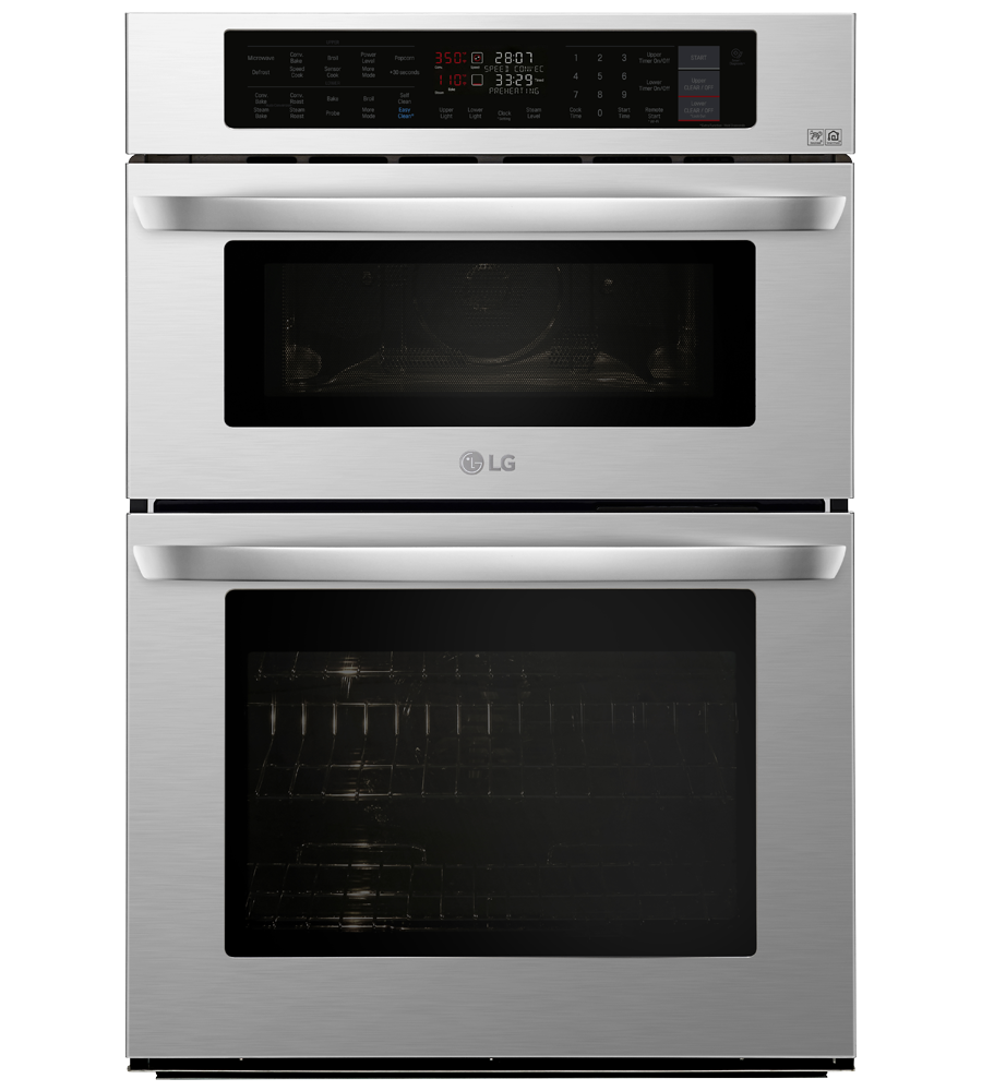LG Wall Oven in Stainless Steel color showcased by Corbeil Electro Store