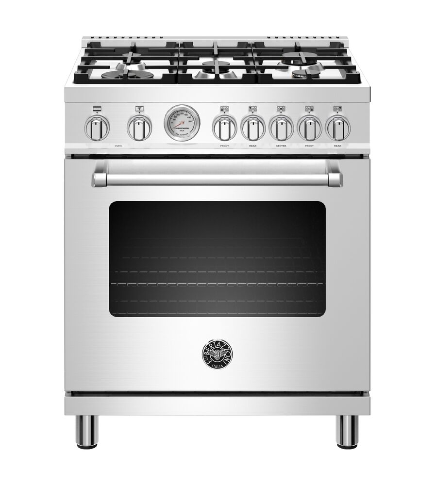 Bertazzoni Range in Stainless Steel color showcased by Corbeil Electro Store