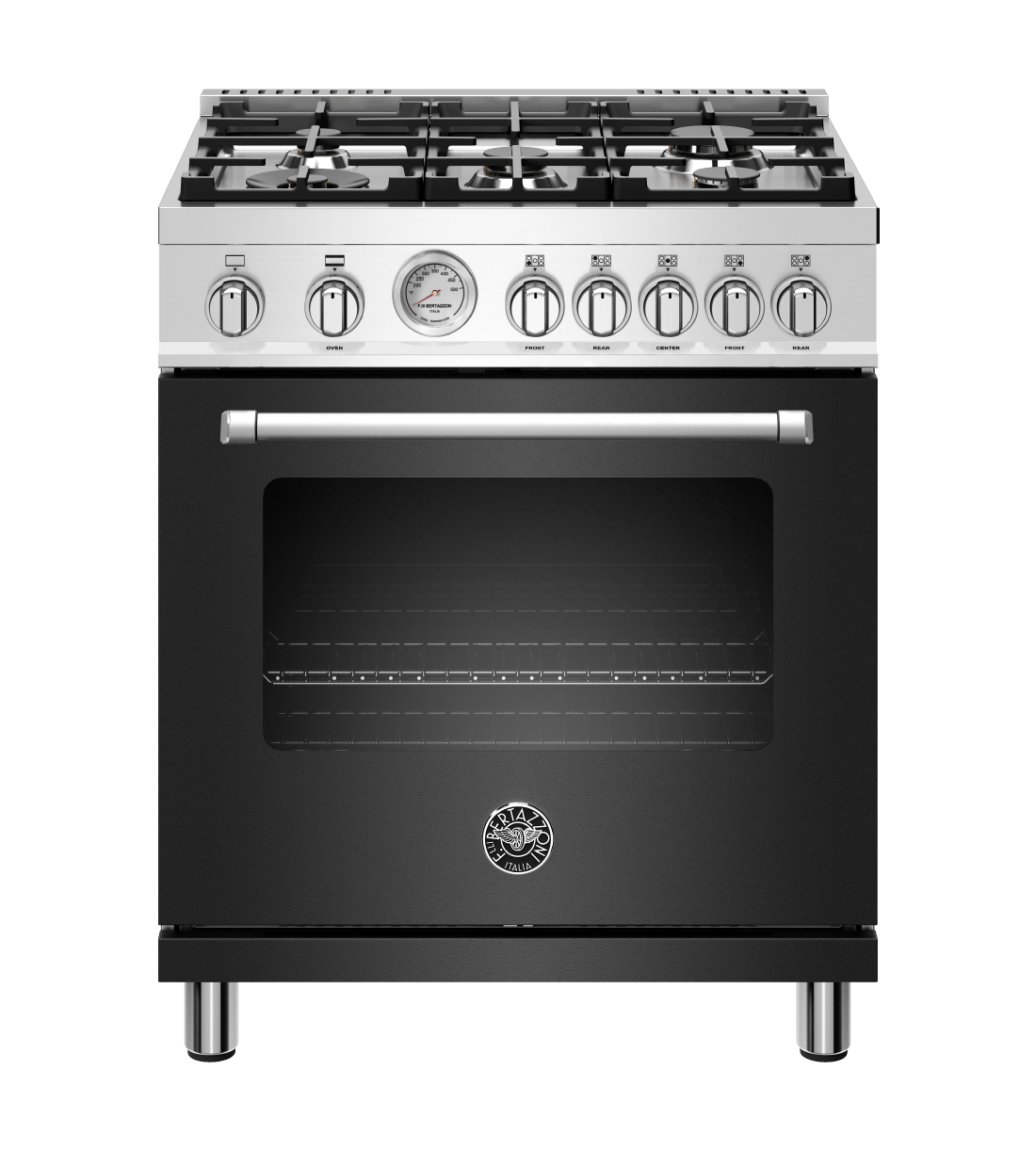 Bertazzoni Range 30inch in Stainless Steel color showcased by Corbeil Electro Store