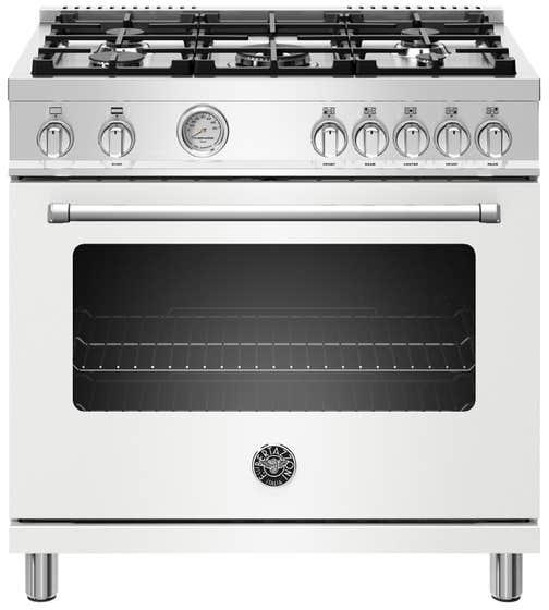 Bertazzoni Cuisinière 36po en couleur Blanc présenté par Corbeil Electro Store