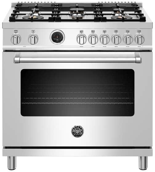 Bertazzoni Cuisinière 36po en couleur Acier Inoxydable présenté par Corbeil Electro Store