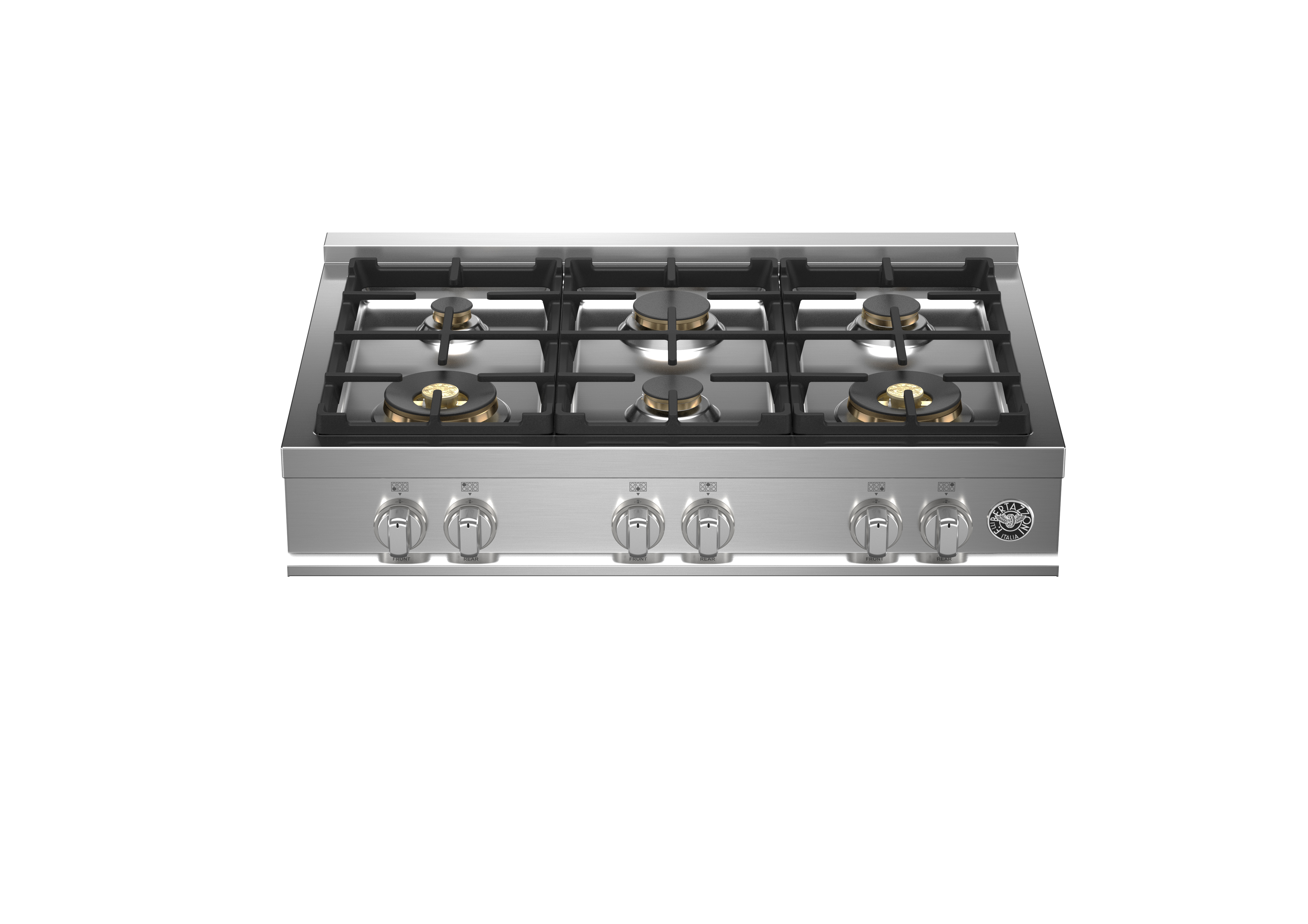 Bertazzoni Cooktop MAST366RTBXT in Stainless Steel color showcased by Corbeil Electro Store