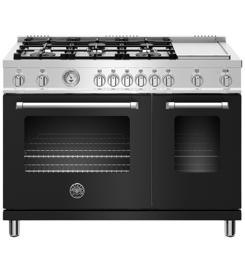 Bertazzoni Cuisinière 48po en couleur Noir présenté par Corbeil Electro Store