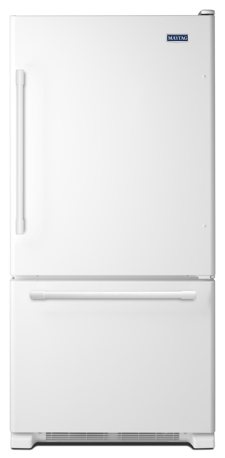 Maytag Refrigerator 30 White MBB1957FEW in White color showcased by Corbeil Electro Store