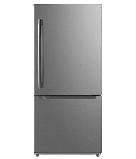 Moffat Réfrigérateur MBE19DSNKSS en couleur Acier Inoxydable présenté par Corbeil Electro Store