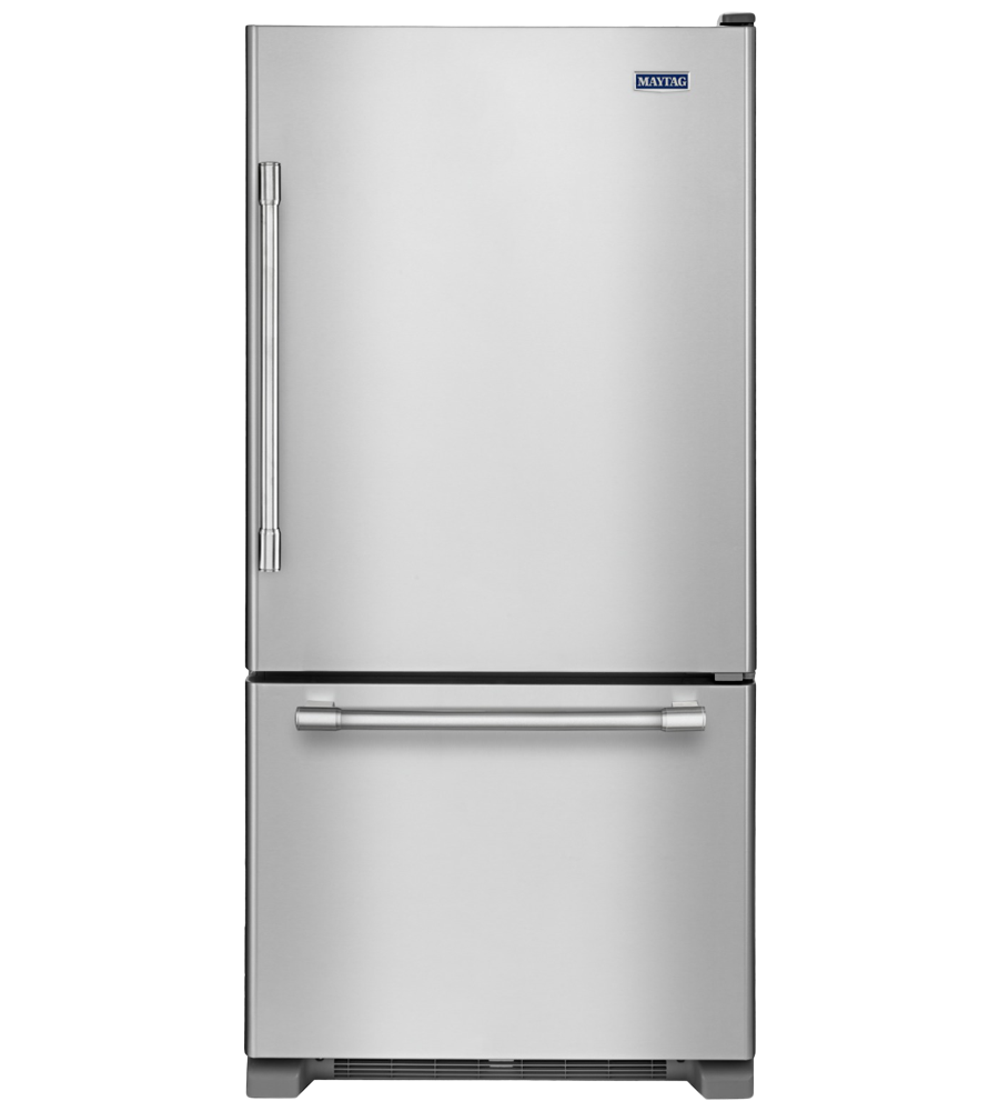 Maytag Refrigerator 30 StainlessSteel MBR1957FEZ in Stainless Steel color showcased by Corbeil Electro Store