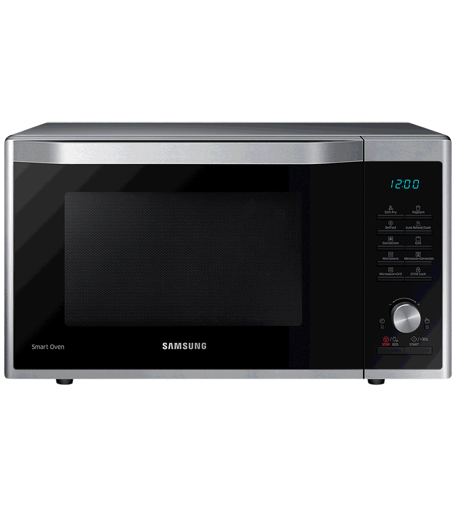 Samsung Microwave in Stainless Steel color showcased by Corbeil Electro Store