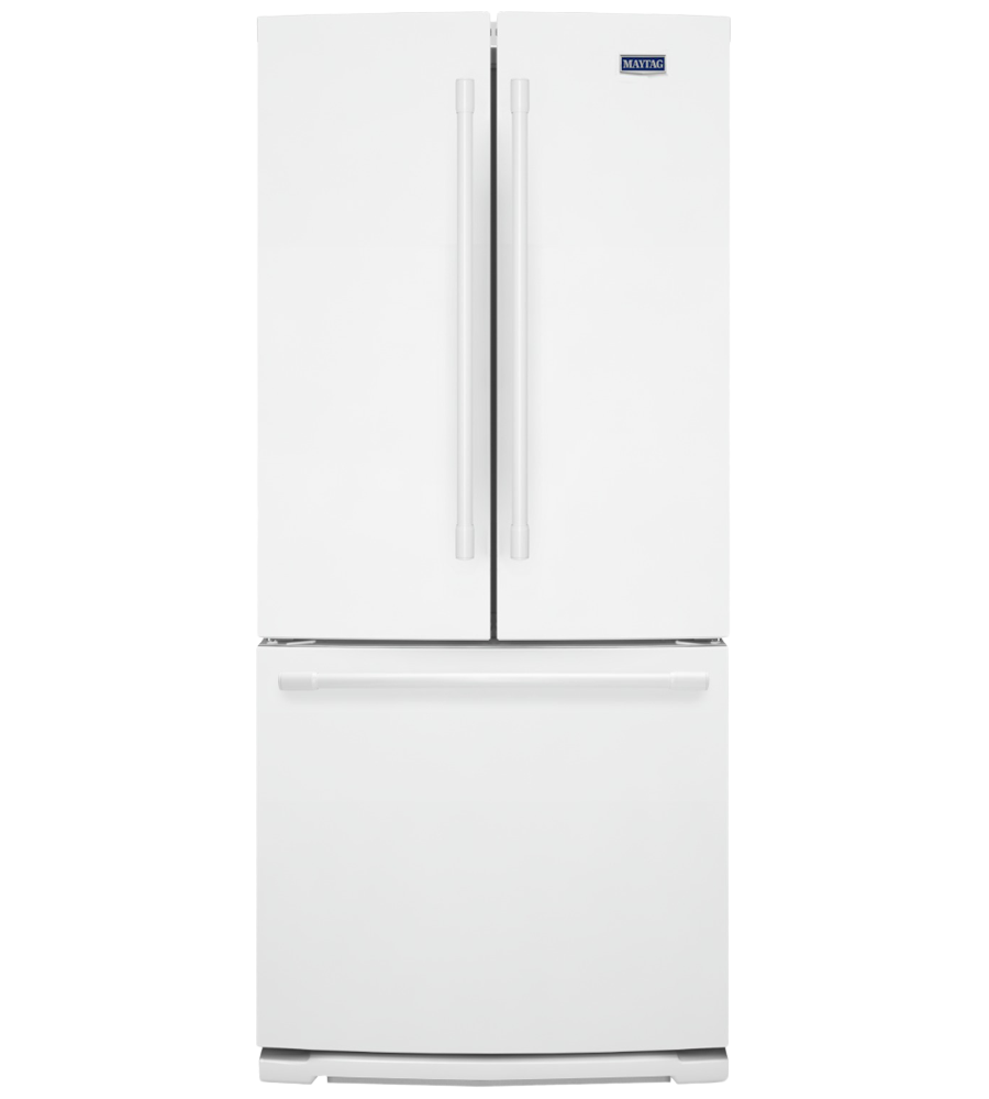 Maytag Refrigerator 30 MFB2055FR in White color showcased by Corbeil Electro Store