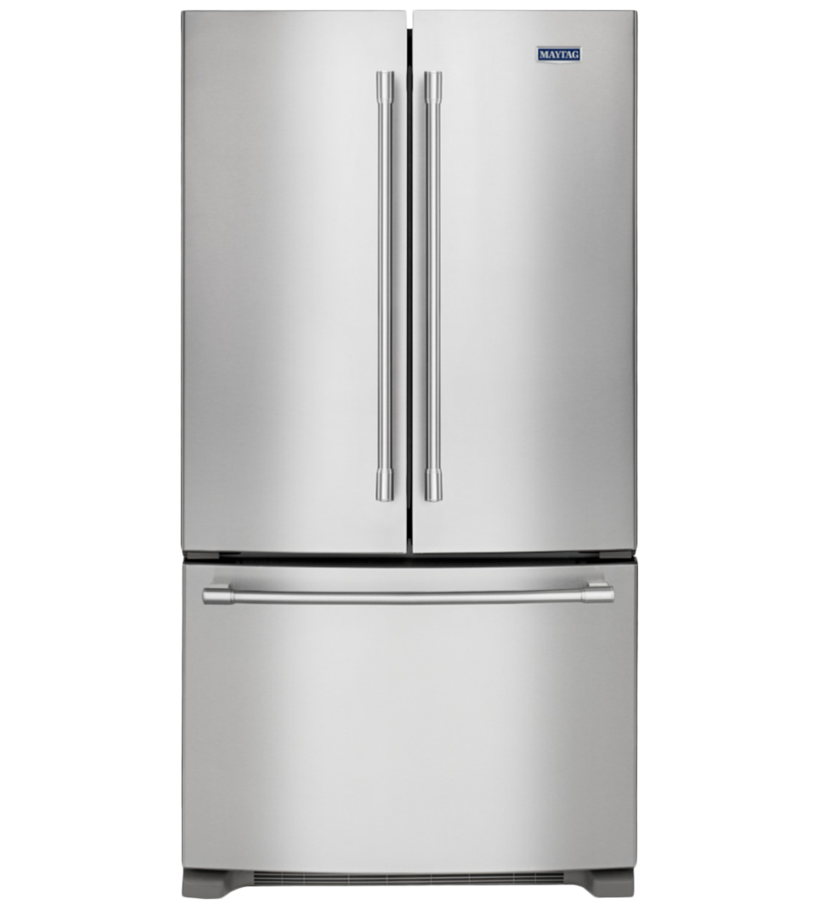 Maytag Refrigerator 36 StainlessSteel MFC2062FEZ in Stainless Steel color showcased by Corbeil Electro Store