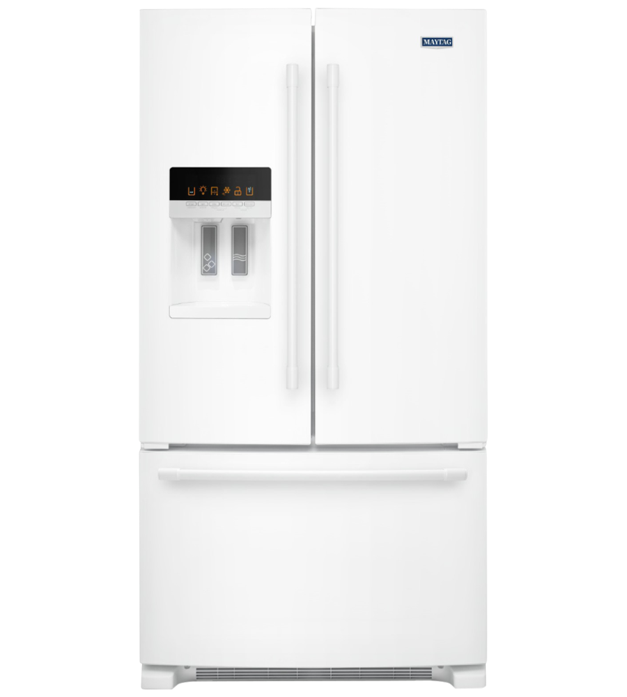 Maytag Refrigerator in White color showcased by Corbeil Electro Store