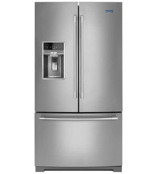 Réfrigérateur Maytag en couleur Acier Inoxydable présenté par Corbeil Electro Store