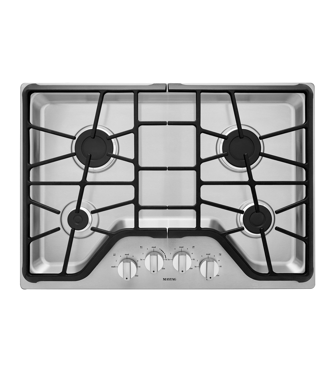 Maytag Cooktop in Stainless Steel color showcased by Corbeil Electro Store