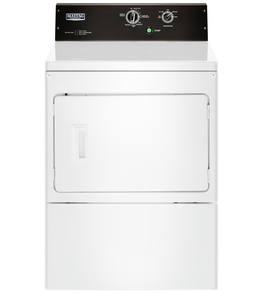 Maytag Dryer in White color showcased by Corbeil Electro Store