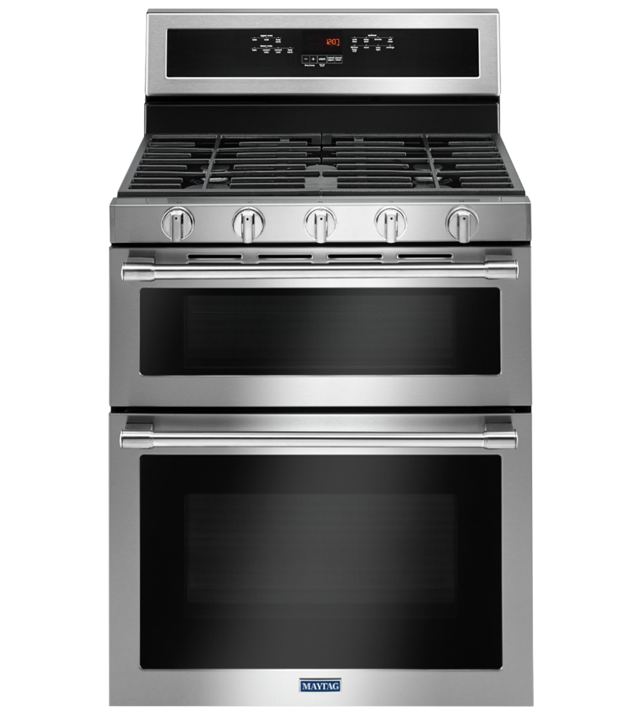 Maytag Range in Stainless Steel color showcased by Corbeil Electro Store