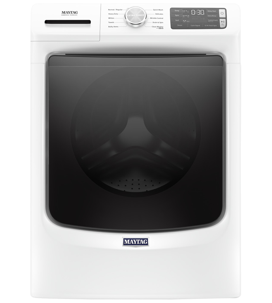 Maytag Washer 27 White MHW5630HW in White color showcased by Corbeil Electro Store