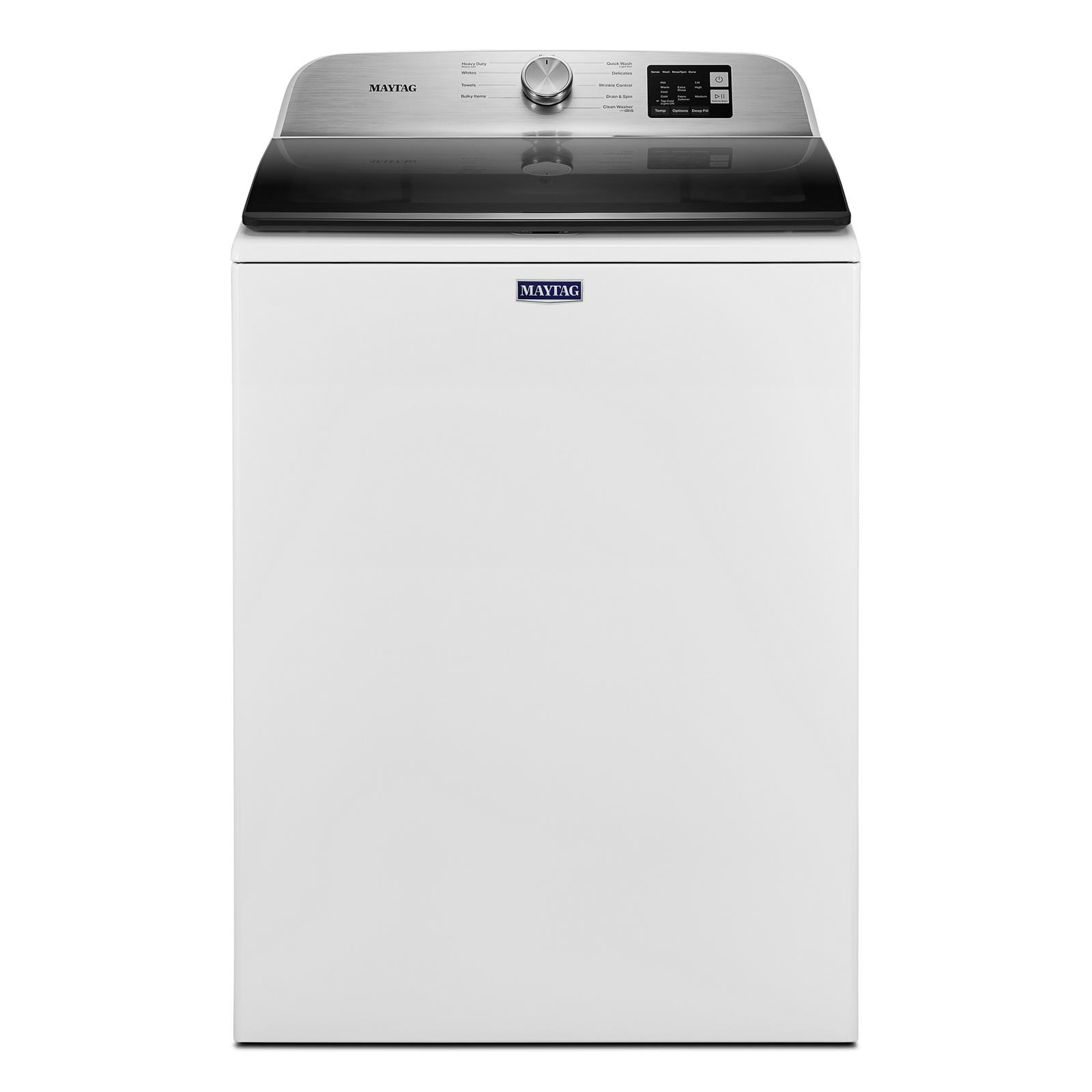 Maytag Washer MVW6200KW in White color showcased by Corbeil Electro Store