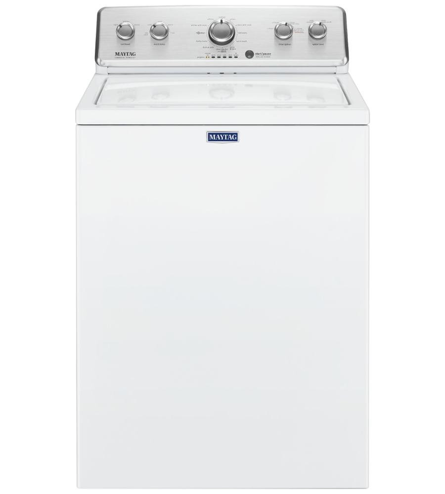 Maytag Washer 27 White MVWC465HW in White color showcased by Corbeil Electro Store