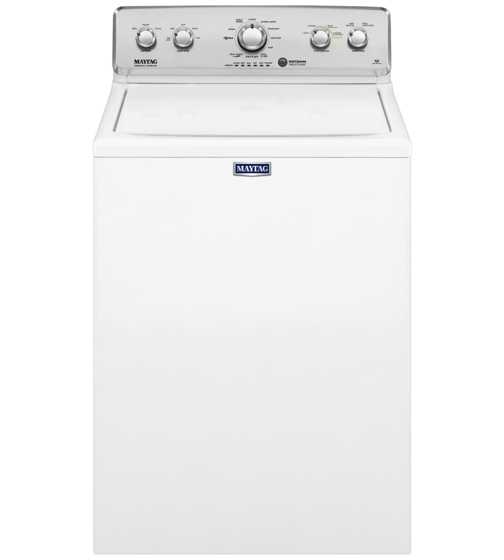 Maytag Washer 27 White MVWC565FW in White color showcased by Corbeil Electro Store