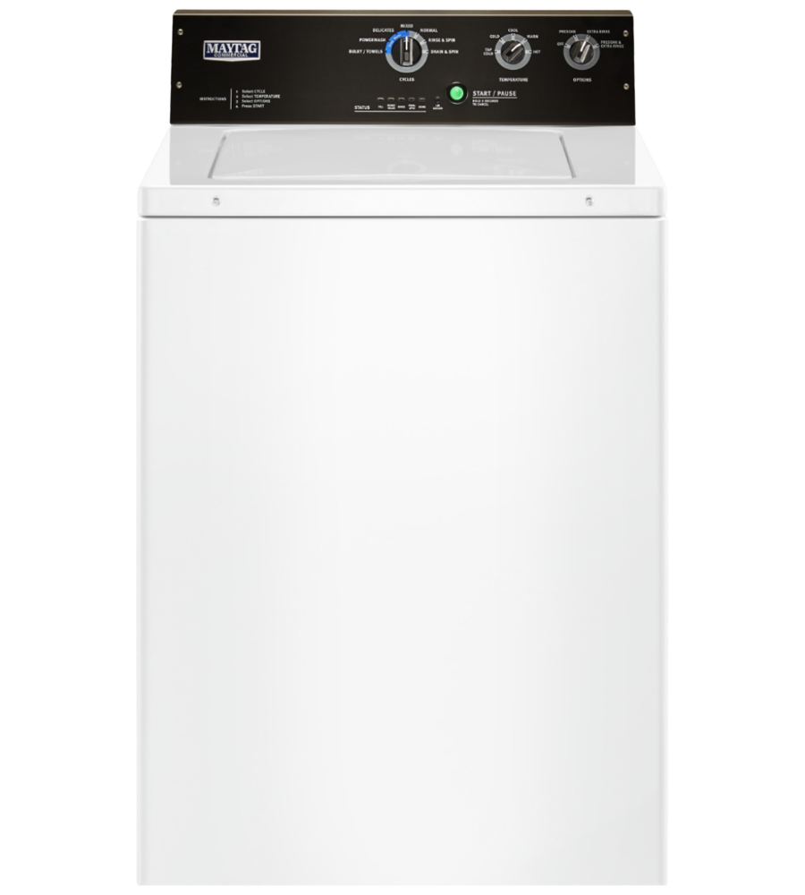 Maytag Washer 29 White MVWP575GW in White color showcased by Corbeil Electro Store