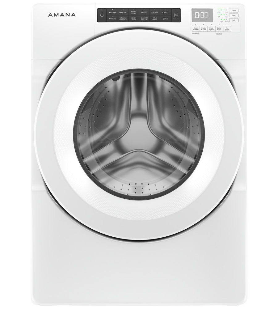 Amana Washer 27 White NFW5800HW in White color showcased by Corbeil Electro Store