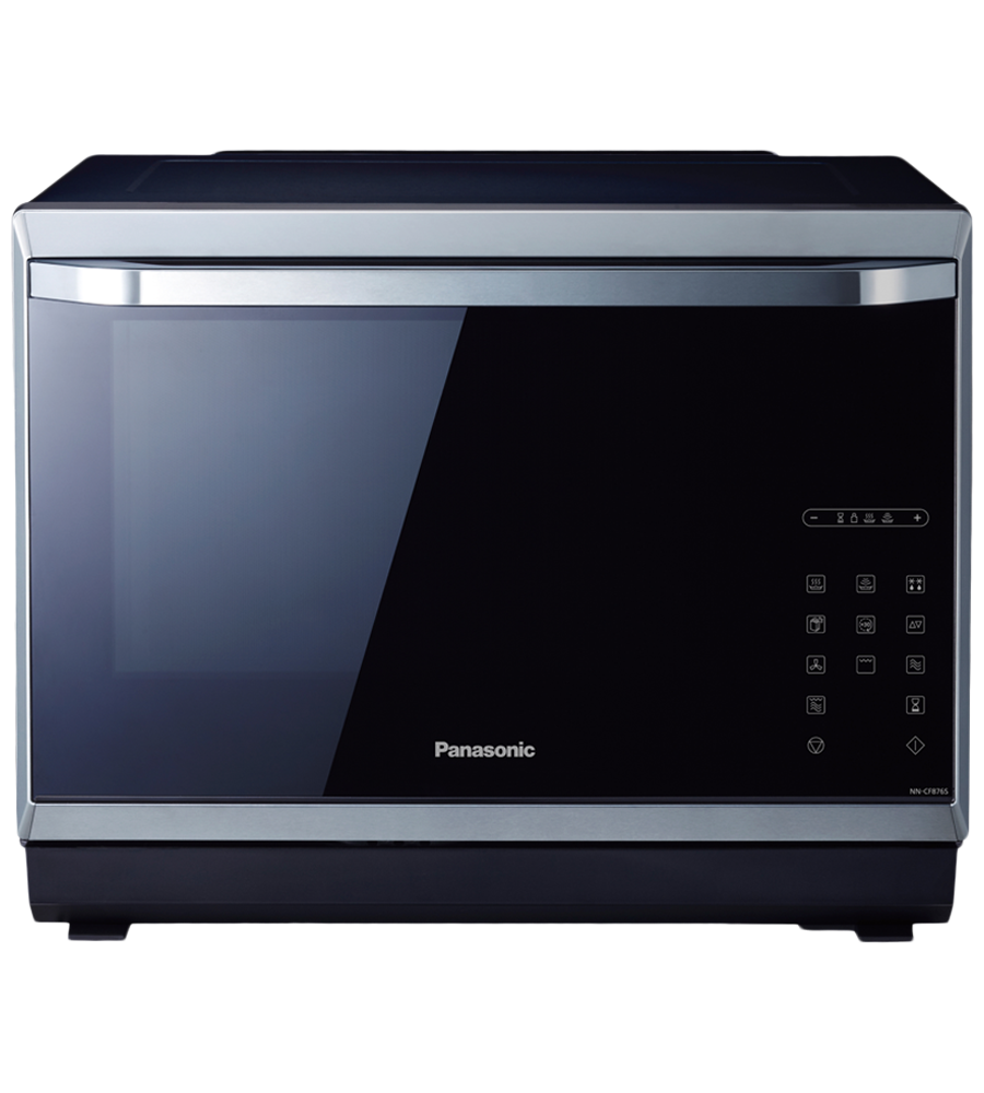 Countertop Microwave in Black on Stainless Steel color showcased by Corbeil Electro Store