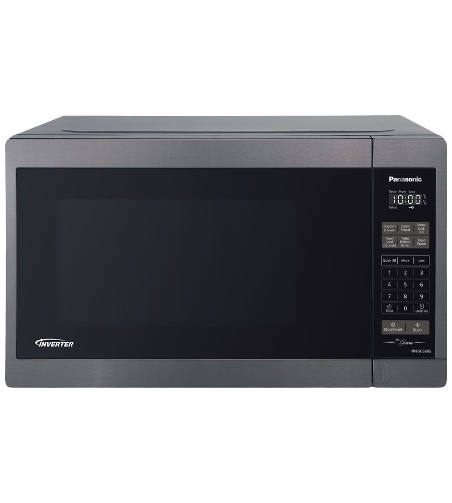 Panasonic Microwave NNSC688S in Stainless Steel color showcased by Corbeil Electro Store