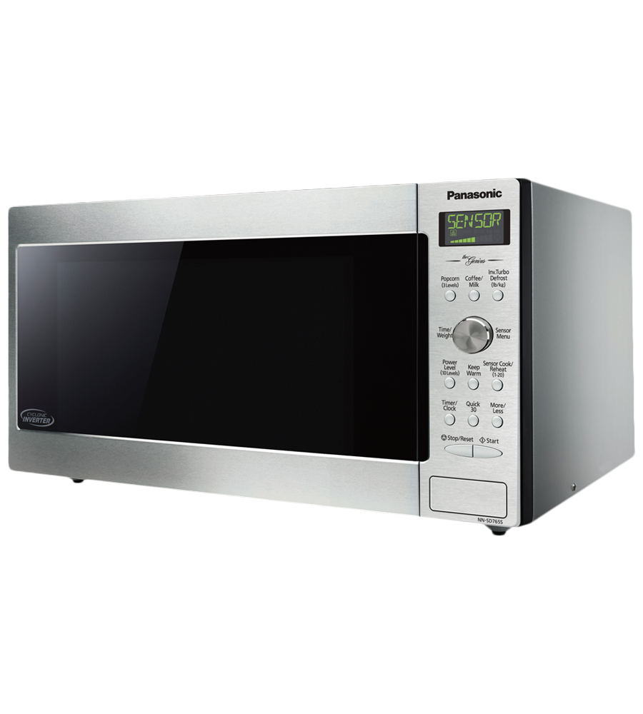 Panasonic Microwave 22 Stainless Steel in Stainless Steel color showcased by Corbeil Electro Store