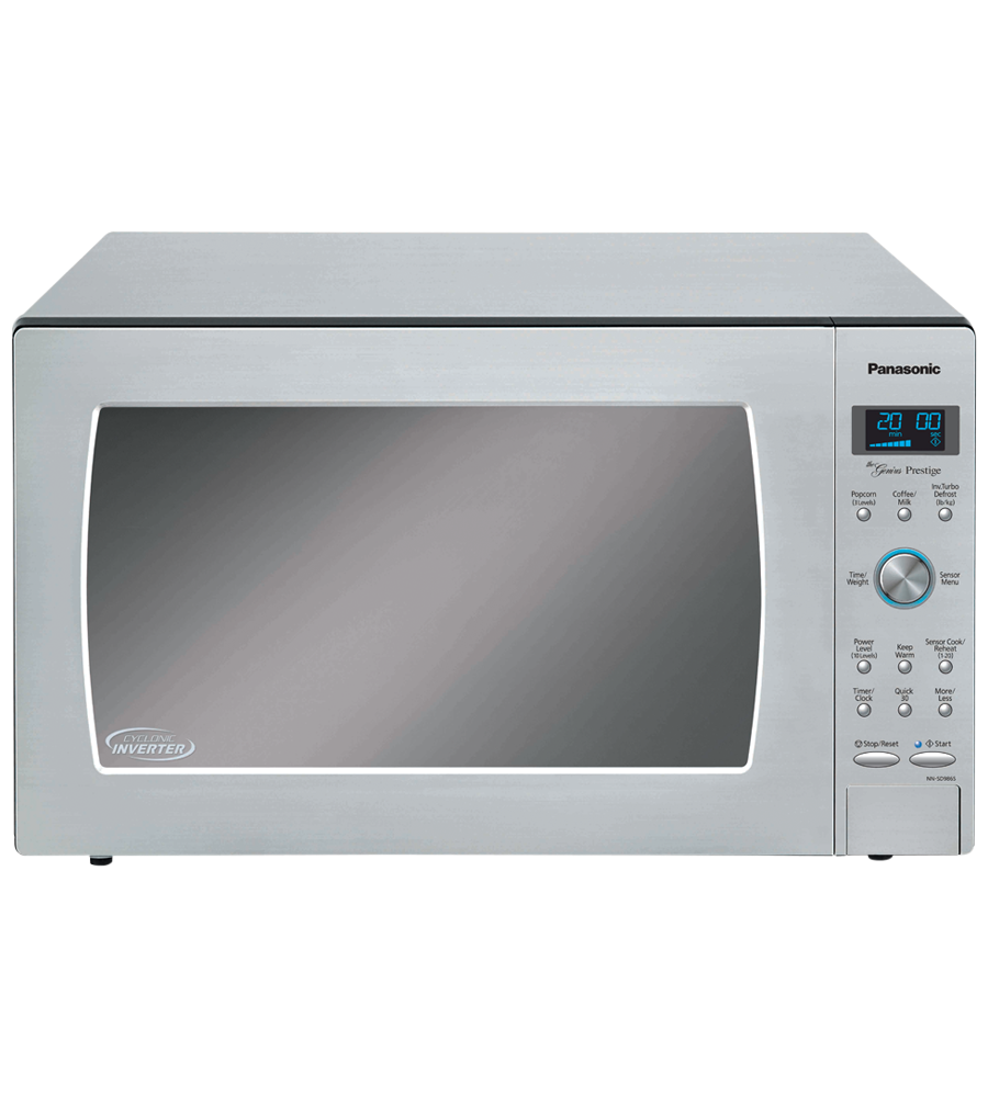 Panasonic Microwave 24 Stainless Steel in Stainless Steel color showcased by Corbeil Electro Store