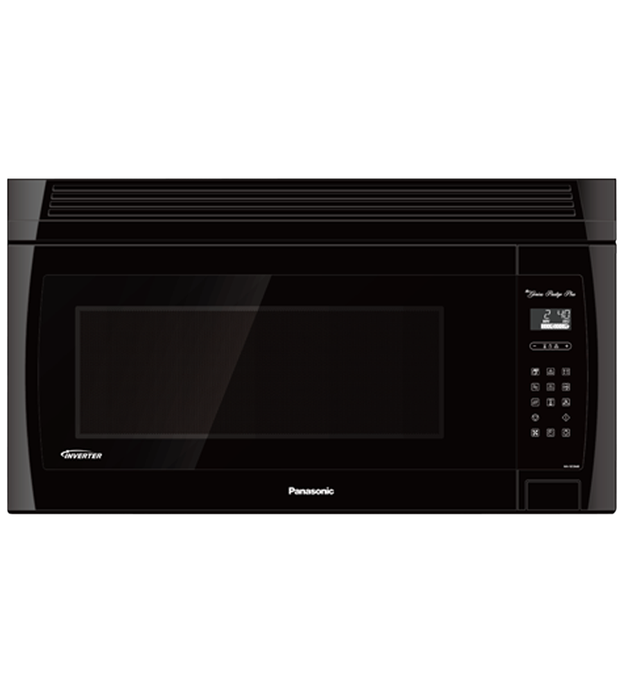 Over-the-range Microwave in Black color showcased by Corbeil Electro Store