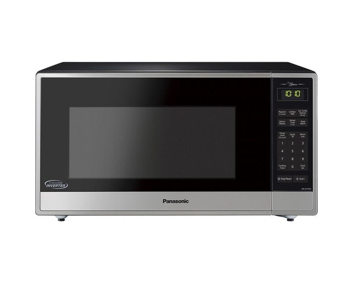 Countertop Microwave in Stainless Steel color showcased by Corbeil Electro Store