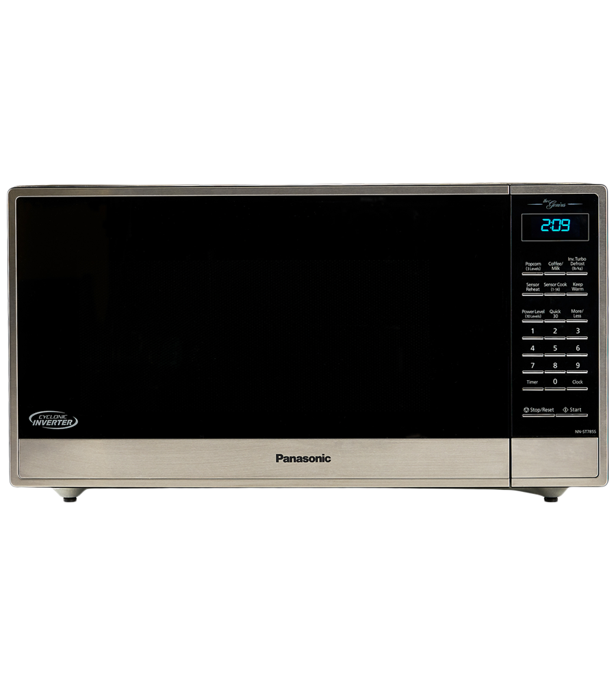 Panasonic Microwave 21 Stainless Steel in Stainless Steel color showcased by Corbeil Electro Store