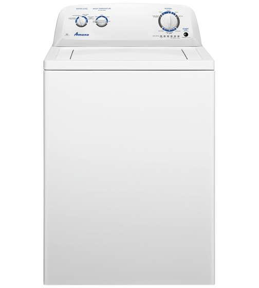 Amana Washer 27 White NTW4516FW in White color showcased by Corbeil Electro Store