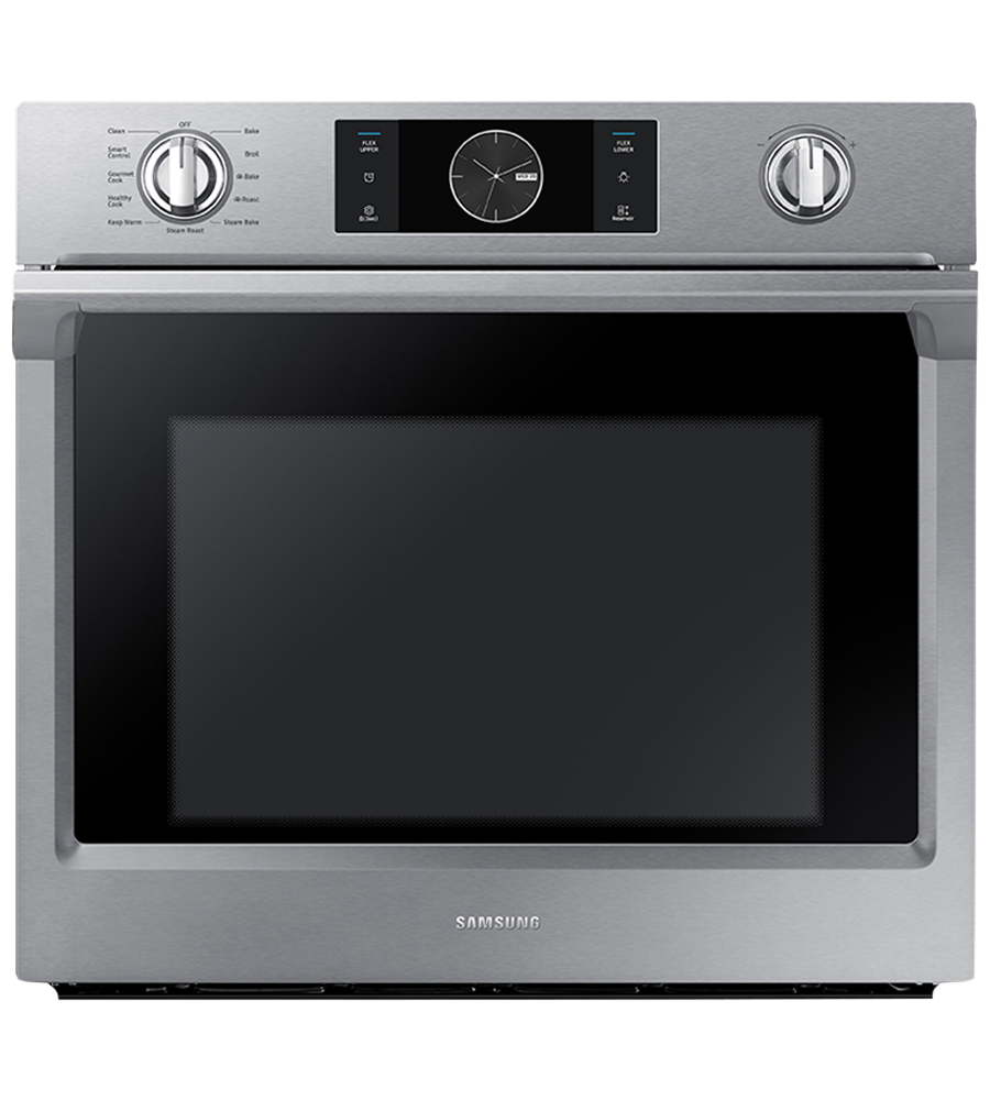 Samsung Wall oven in Stainless Steel color showcased by Corbeil Electro Store