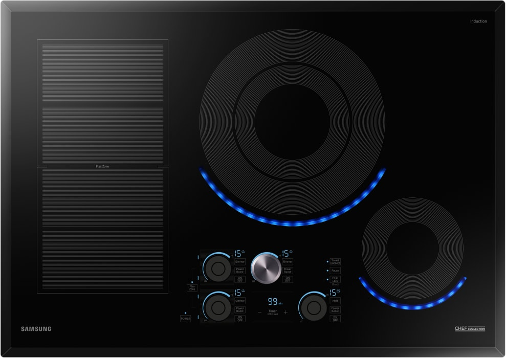 Samsung Cooktop in Black color showcased by Corbeil Electro Store