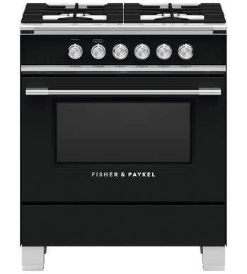 CuisinièreFisher & Paykel en couleur Noir présenté par Corbeil Electro Store